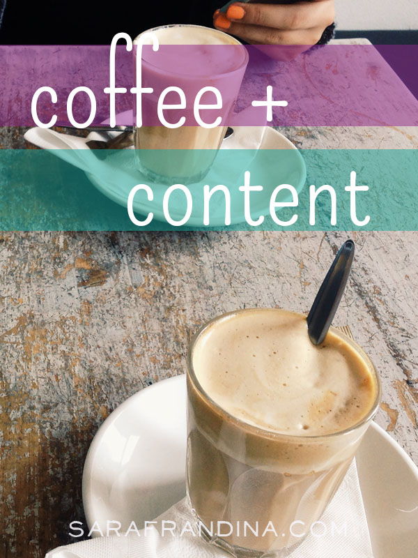 coffee + content, reads on SEO, productivity, and more