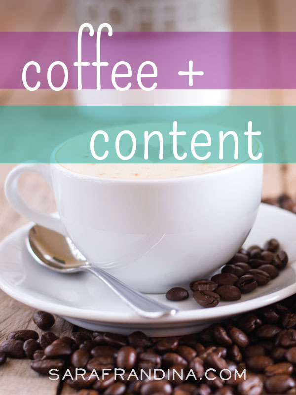 coffee + content: round up on minimalism in business, creative blocks, reading + more